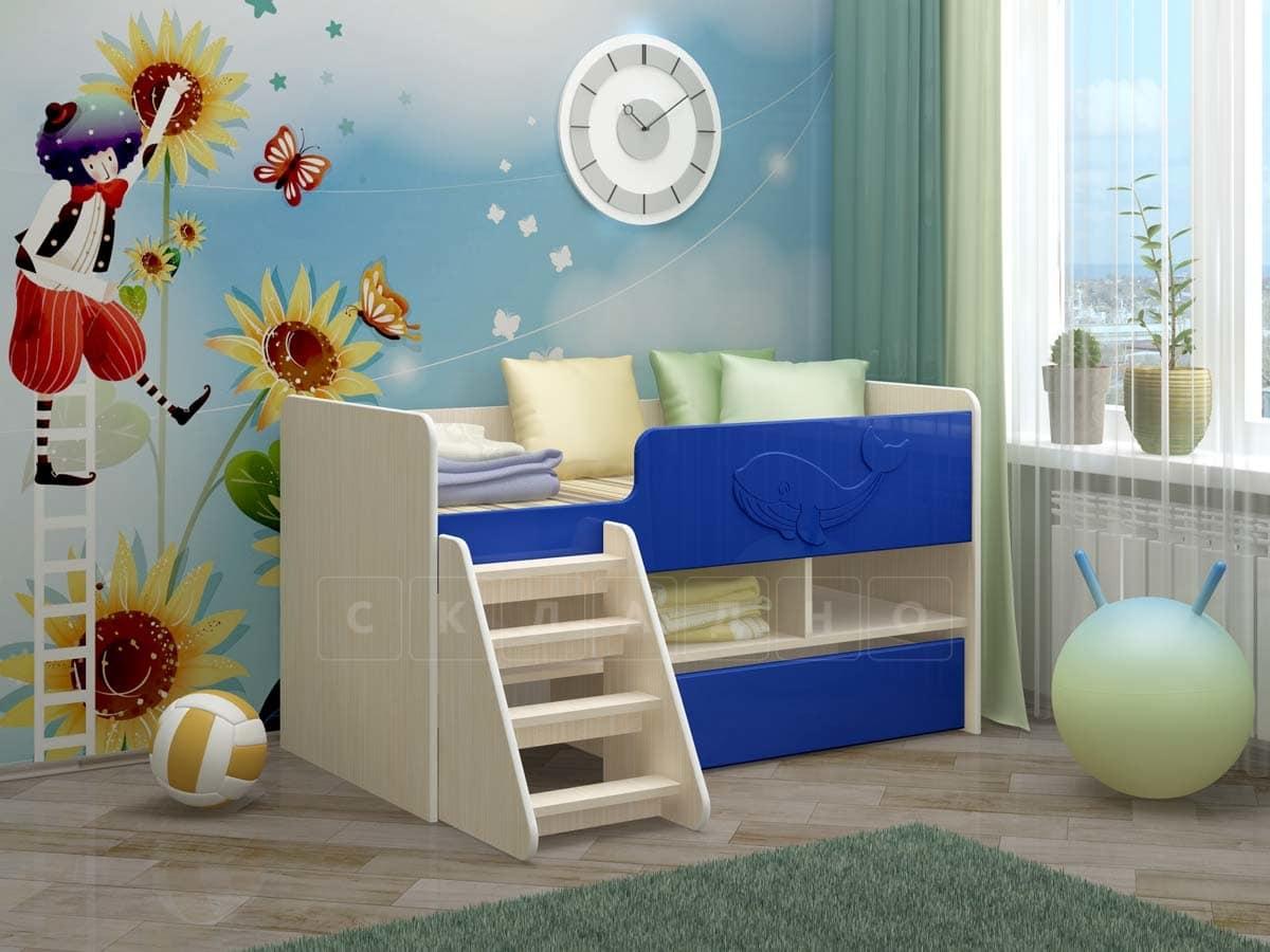 Детская кровать Юниор-3 МДФ фото 6 | интернет-магазин Складно