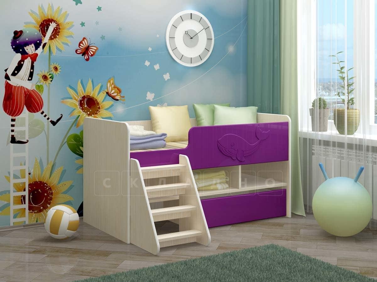 Детская кровать Юниор-3 МДФ фото 7 | интернет-магазин Складно