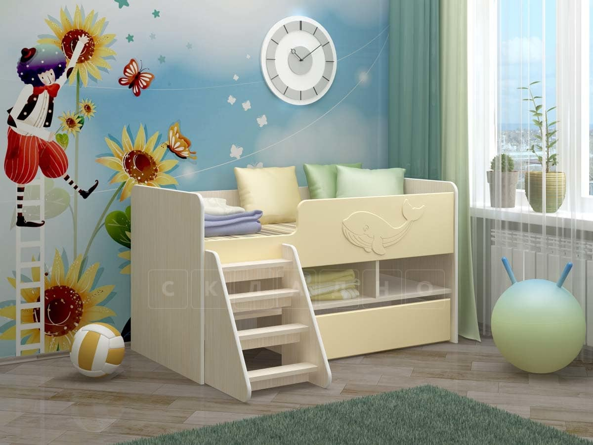 Детская кровать Юниор-3 МДФ фото 8 | интернет-магазин Складно