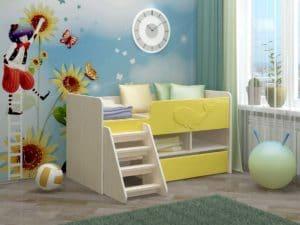 Детская кровать Юниор-3 МДФ фото 2 | интернет-магазин Складно