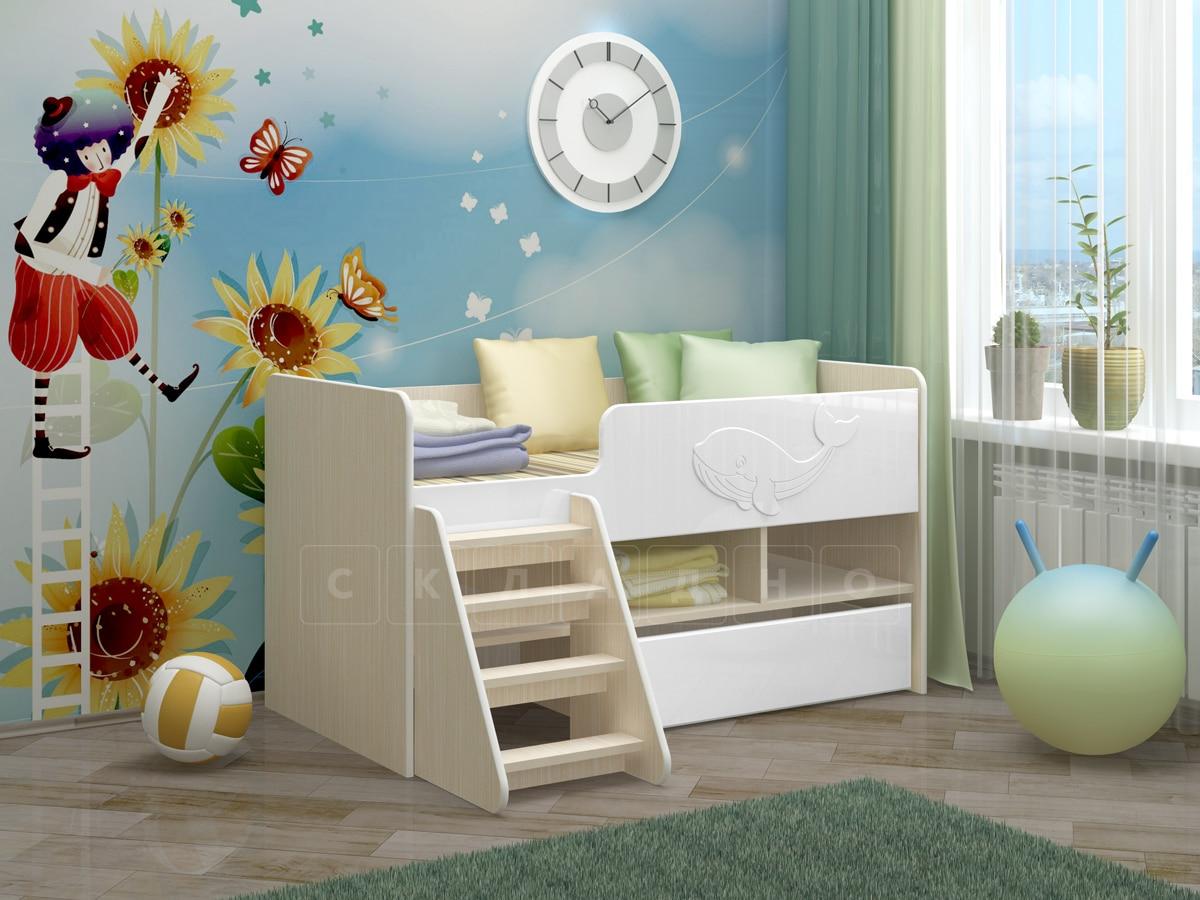 Детская кровать Юниор-3 МДФ фото 10 | интернет-магазин Складно