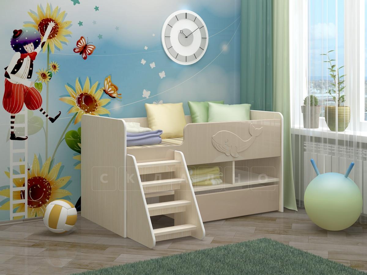 Детская кровать Юниор-3 МДФ фото 9 | интернет-магазин Складно