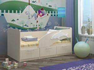 Детская кровать Дельфин-5 6650 рублей, фото 2 | интернет-магазин Складно