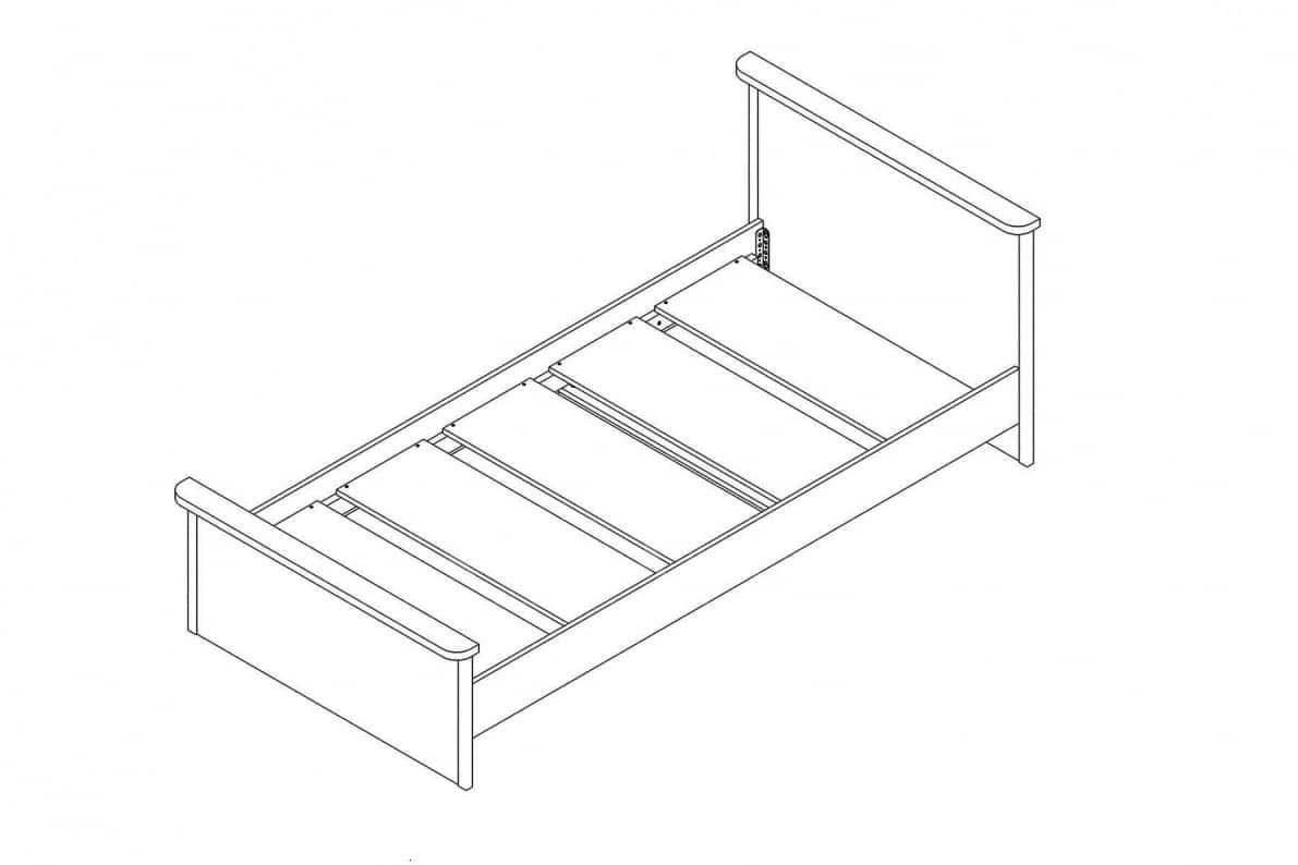 Кровать Тифани 90 см фото 2 | интернет-магазин Складно