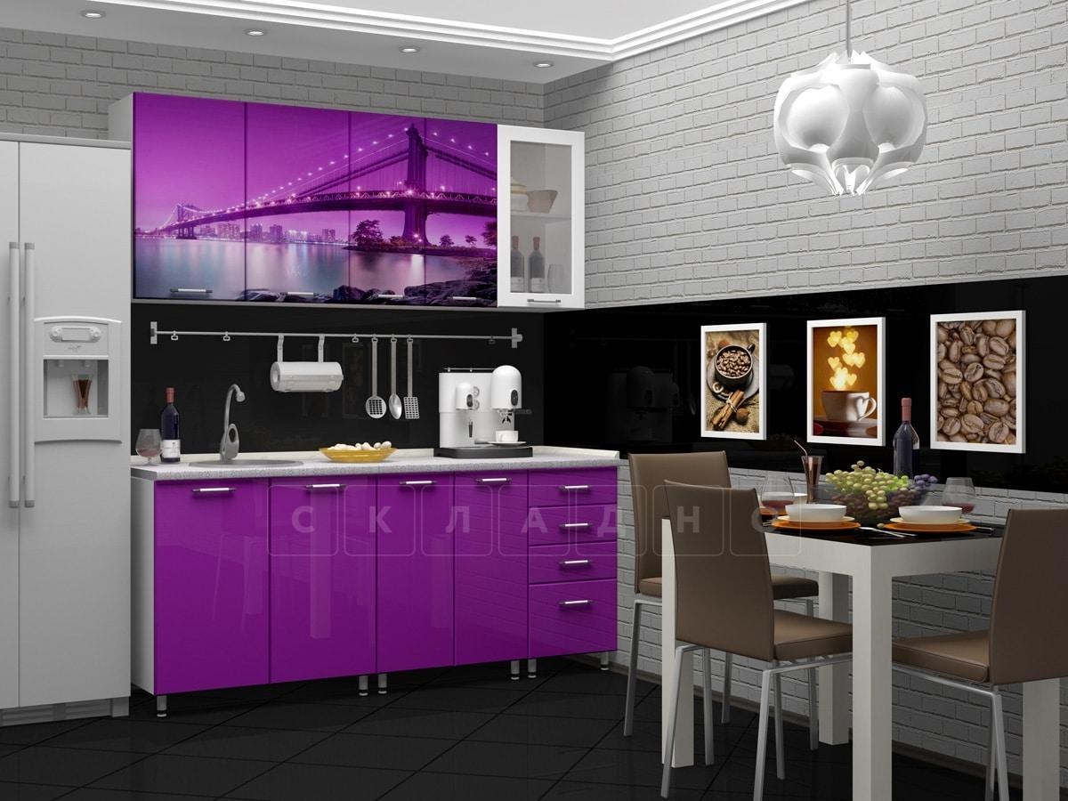 Кухня с фотопечатью Бридж 1,8 м фото 1 | интернет-магазин Складно