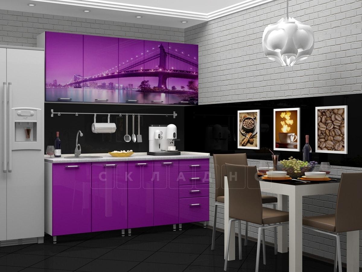 Кухня с фотопечатью Бридж 1,8 м фото 2 | интернет-магазин Складно