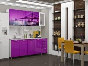 Кухня с фотопечатью Бридж 2,0м 15690 рублей, фото 1 | интернет-магазин Складно