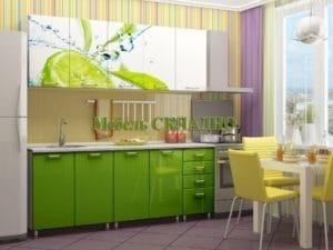 Кухня с фотопечатью Лайм 2,0м 24470 рублей, фото 2 | интернет-магазин Складно