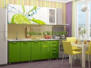 Кухня с фотопечатью Лайм 2,0м  24470  рублей, фото 1 | интернет-магазин Складно
