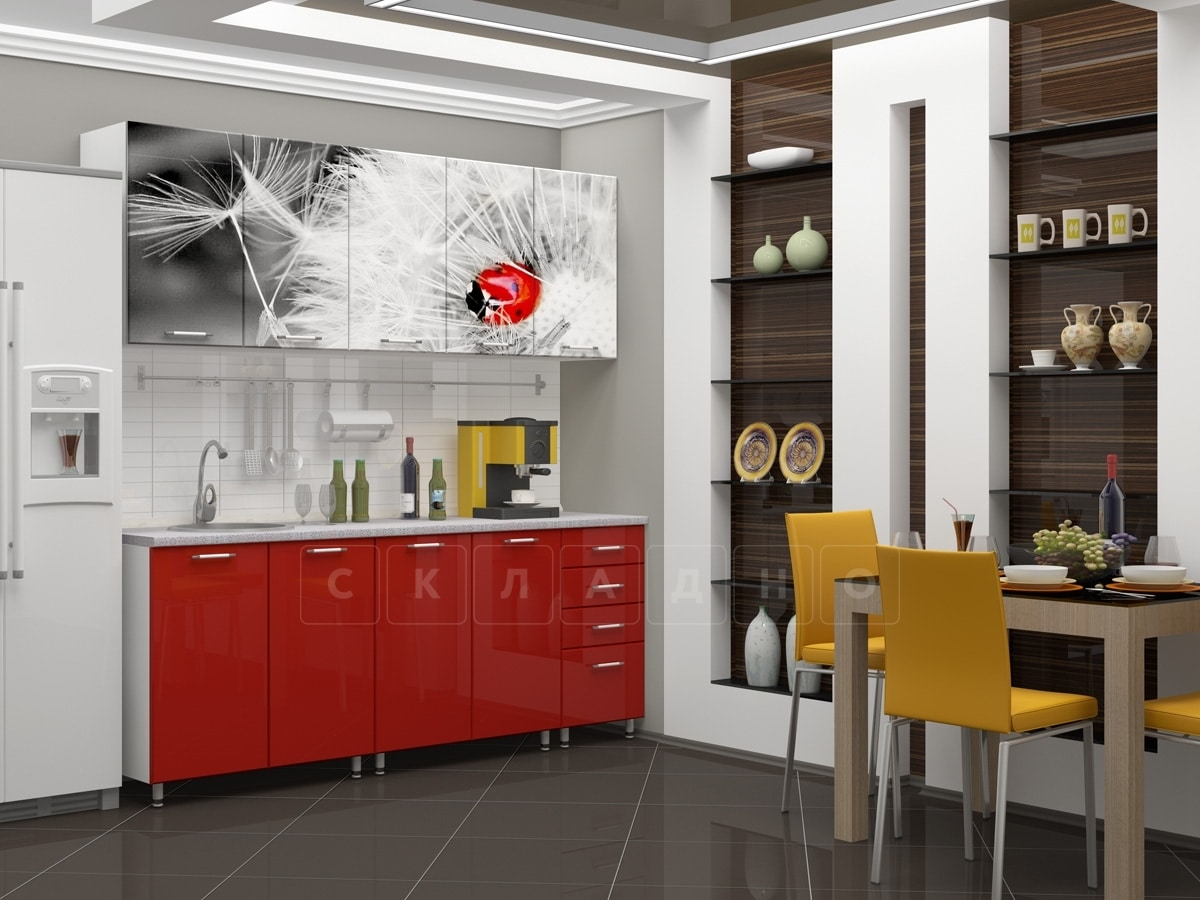 Кухня с фотопечатью Одуванчик 2,0м фото 2 | интернет-магазин Складно