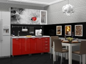 Кухня с фотопечатью Одуванчик 1,8 м  19670  рублей, фото 1 | интернет-магазин Складно
