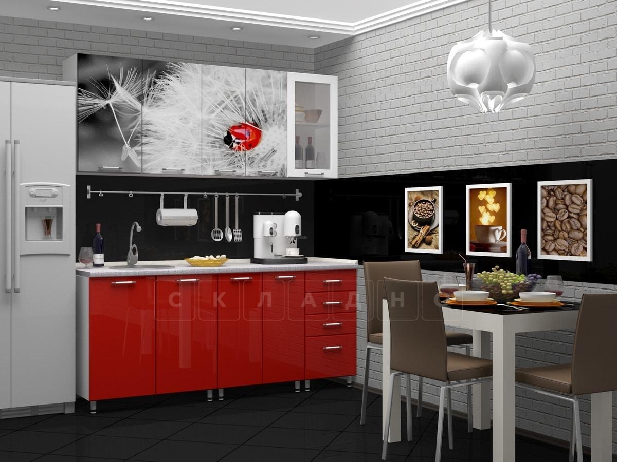 Кухня с фотопечатью Одуванчик 1,8 м фото 1 | интернет-магазин Складно