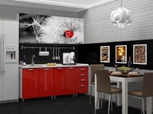Кухня с фотопечатью Одуванчик 1,8 м 19670 рублей, фото 2 | интернет-магазин Складно