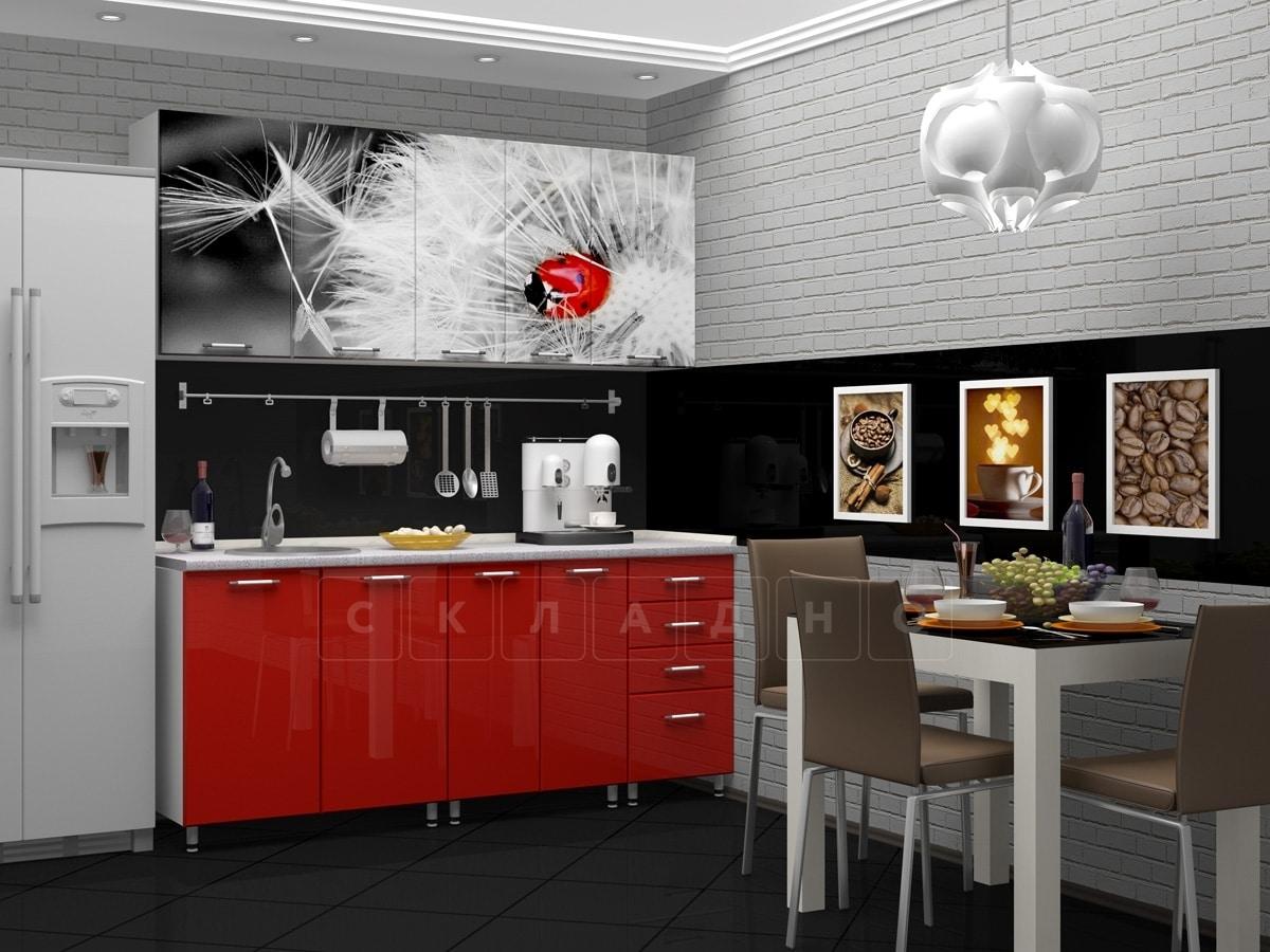 Кухня с фотопечатью Одуванчик 1,8 м фото 2 | интернет-магазин Складно