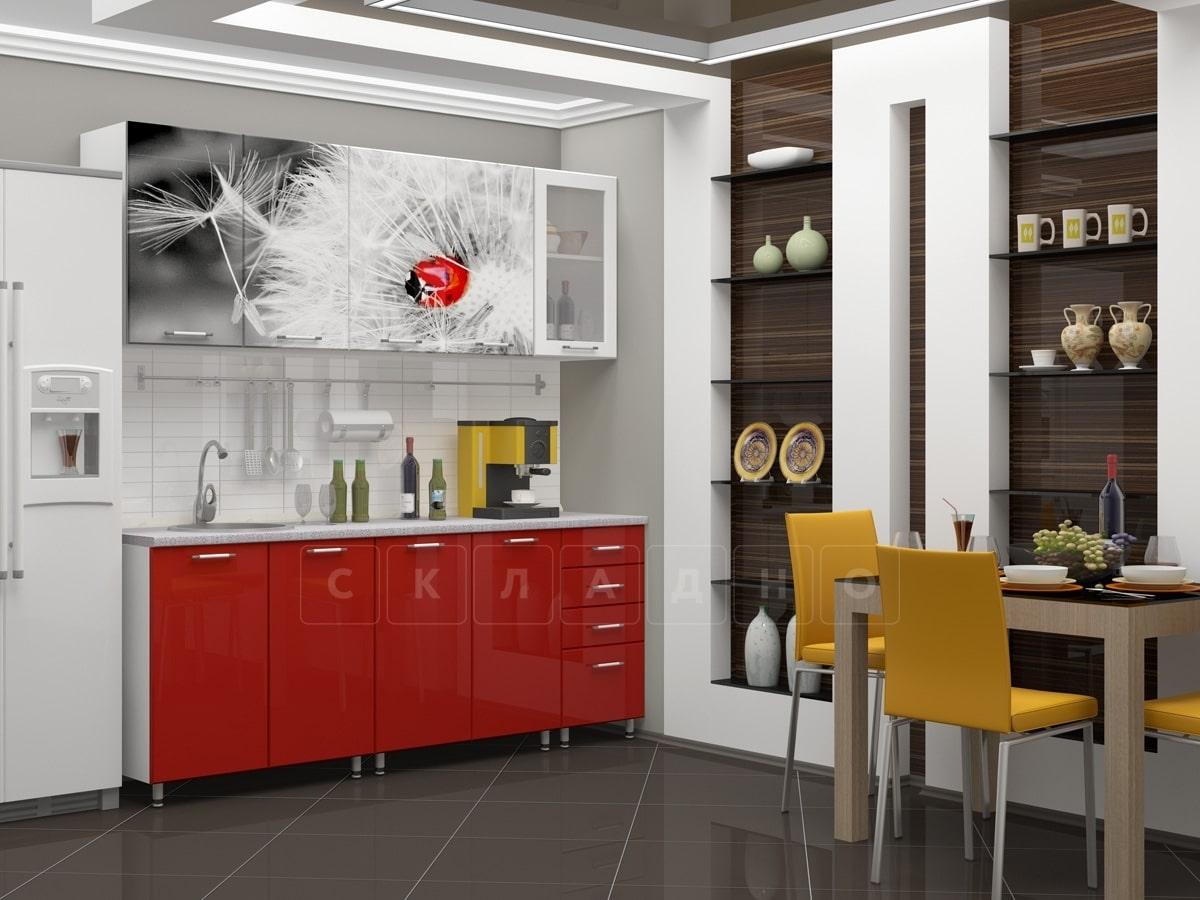 Кухня с фотопечатью Одуванчик 2,0м фото 1 | интернет-магазин Складно