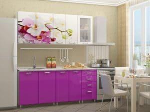 Кухня с фотопечатью Орхидея 1,8м 14490 рублей, фото 1 | интернет-магазин Складно