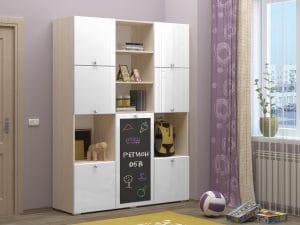 Шкаф в детскую Юниор-11 с доской для рисования 10890 рублей, фото 10 | интернет-магазин Складно