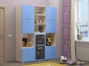 Шкаф в детскую Юниор-11 с доской для рисования 10890 рублей, фото 3 | интернет-магазин Складно