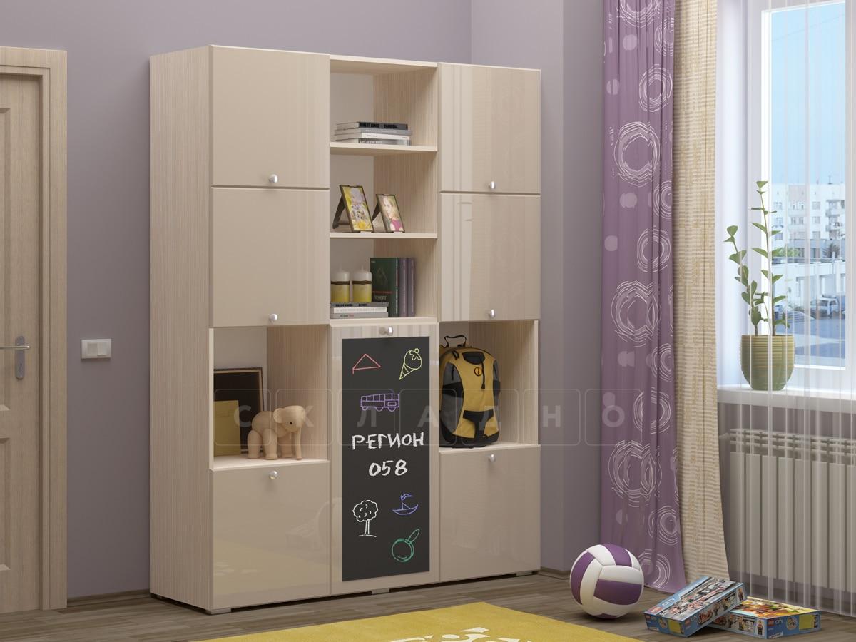Шкаф в детскую Юниор-11 с доской для рисования фото 11 | интернет-магазин Складно
