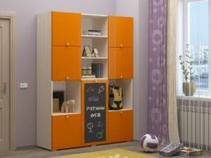 Шкаф в детскую Юниор-11 с доской для рисования 10890 рублей, фото 4 | интернет-магазин Складно