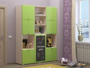 Шкаф в детскую Юниор-11 с доской для рисования 10890 рублей, фото 6 | интернет-магазин Складно
