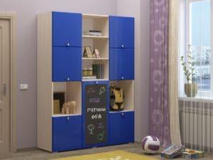 Шкаф в детскую Юниор-11 с доской для рисования 10890 рублей, фото 7 | интернет-магазин Складно