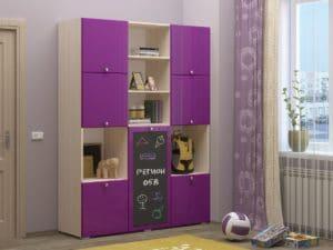 Шкаф в детскую Юниор-11 с доской для рисования 10890 рублей, фото 8 | интернет-магазин Складно