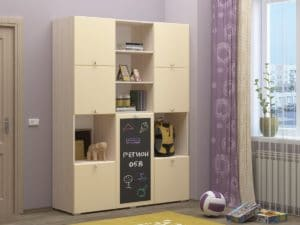 Шкаф в детскую Юниор-11 с доской для рисования 10890 рублей, фото 9 | интернет-магазин Складно