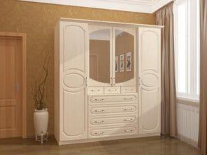 Шкаф распашной Карина-7 четырехстворчатый фото | интернет-магазин Складно