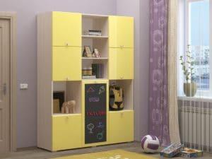 Шкаф в детскую Юниор-11 с доской для рисования 10890 рублей, фото 1 | интернет-магазин Складно