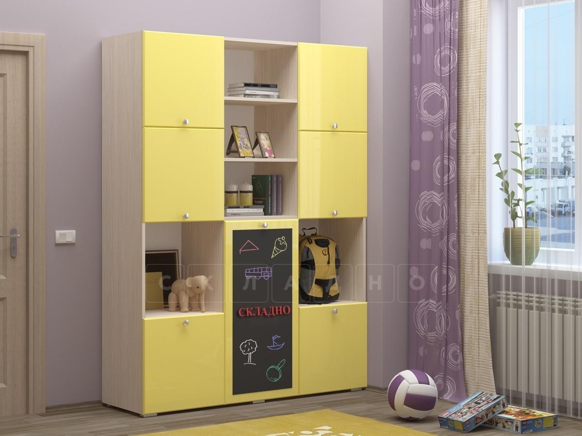 Шкаф в детскую Юниор-11 с доской для рисования фото 1 | интернет-магазин Складно
