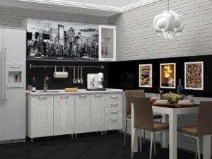 Кухня с фотопечатью Сити 1,8 м  14490  рублей, фото 1 | интернет-магазин Складно