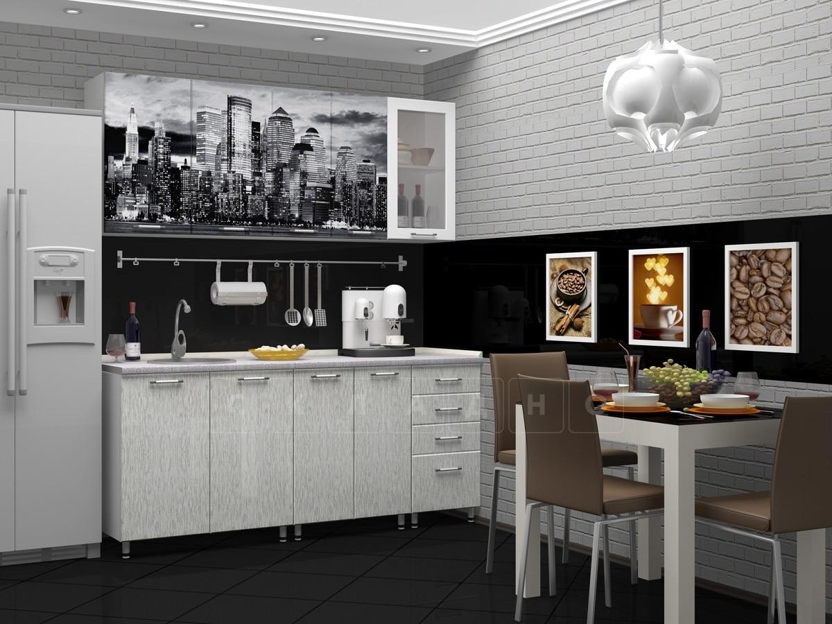 Кухня с фотопечатью Сити 1,8 м фото 1 | интернет-магазин Складно
