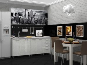 Кухня с фотопечатью Сити 1,8 м 14490 рублей, фото 2 | интернет-магазин Складно