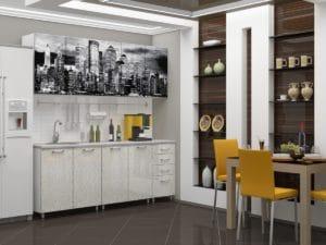 Кухня с фотопечатью Сити 2,0м 15690 рублей, фото 2 | интернет-магазин Складно