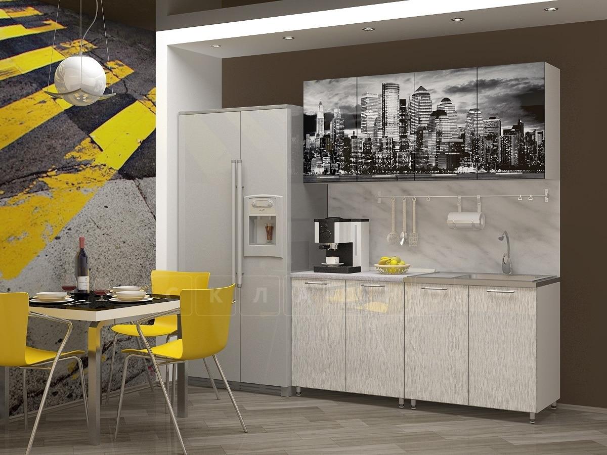 Кухня с фотопечатью Сити 160 см фото 1 | интернет-магазин Складно