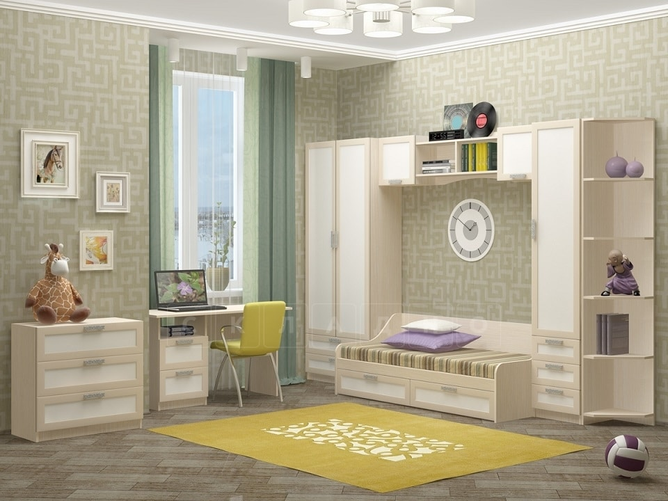 Набор детской мебели Юниор-7 рамочный вариант 2 фото 1 | интернет-магазин Складно