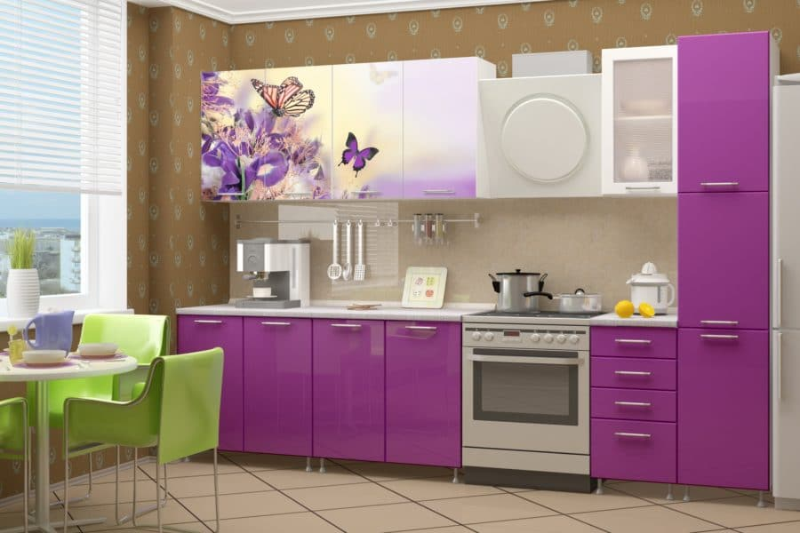 Кухня с фотопечатью Весна 240см фото | интернет-магазин Складно