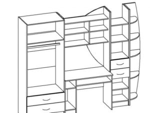 Набор детской мебели Юниор-2 МДФ 25240 рублей, фото 9 | интернет-магазин Складно