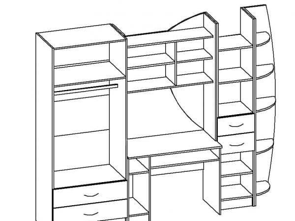 Набор детской мебели Юниор-2 МДФ фото 9 | интернет-магазин Складно