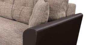 Диван прямой Амстердам кожаный с рогожкой коричневый 22840 рублей, фото 5 | интернет-магазин Складно