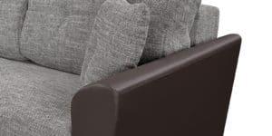 Диван прямой Амстердам кожаный с рогожкой серый 22840 рублей, фото 5 | интернет-магазин Складно