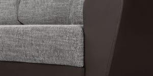 Диван прямой Амстердам кожаный с рогожкой серый 22840 рублей, фото 6 | интернет-магазин Складно
