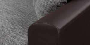 Диван прямой Амстердам кожаный с рогожкой серый 22840 рублей, фото 7 | интернет-магазин Складно