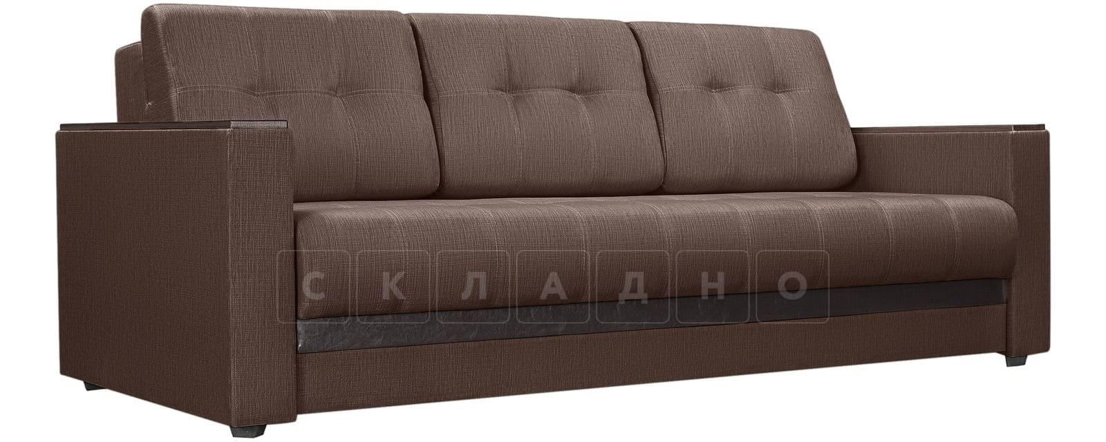 Диван Атланта рогожка коричневого цвета фото 1 | интернет-магазин Складно