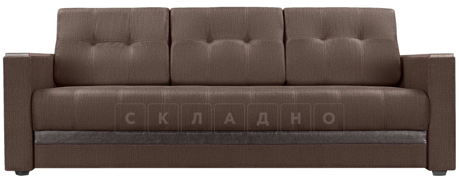 Диван Атланта рогожка коричневого цвета фото 2 | интернет-магазин Складно