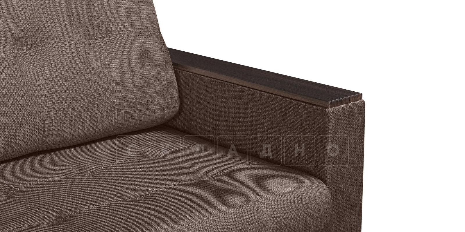Диван Атланта рогожка коричневого цвета фото 4 | интернет-магазин Складно