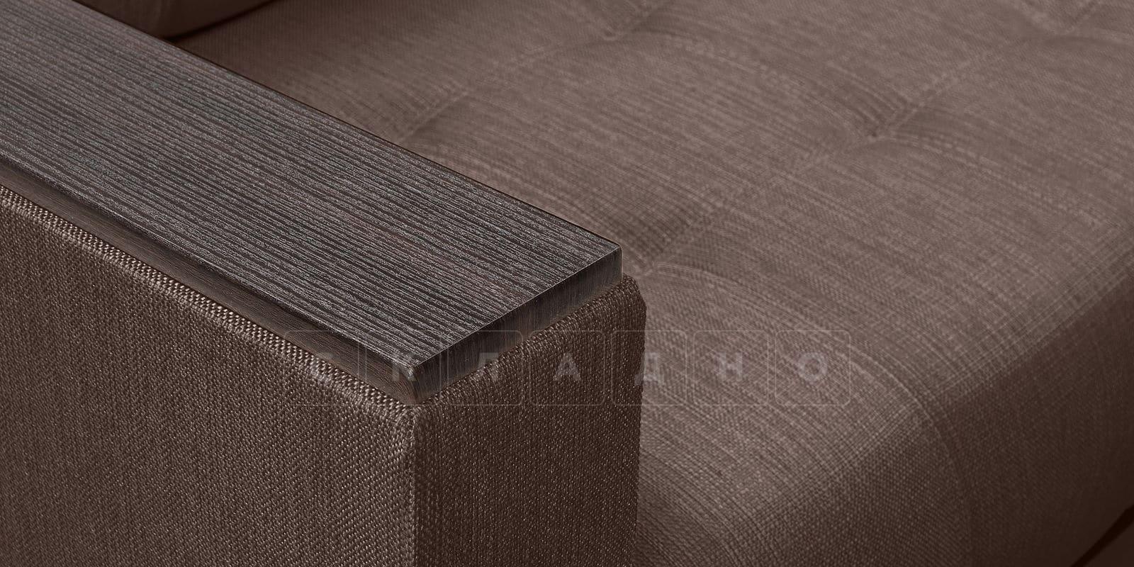 Диван Атланта рогожка коричневого цвета фото 6 | интернет-магазин Складно