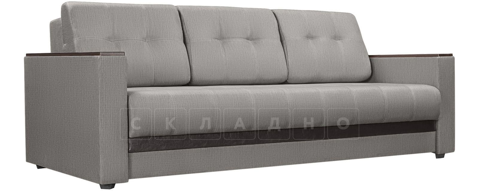 Диван Атланта рогожка серого цвета фото 1 | интернет-магазин Складно