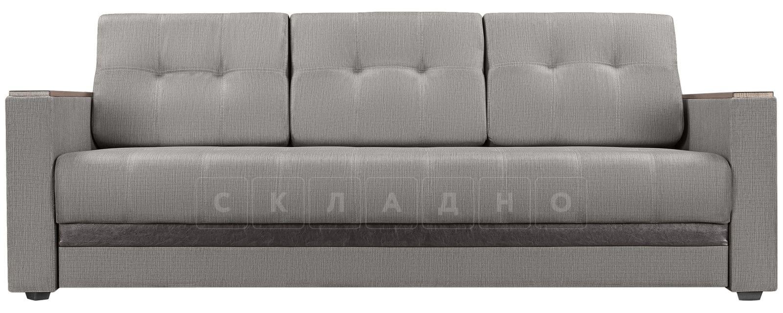 Диван Атланта рогожка серого цвета фото 2 | интернет-магазин Складно